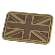 Hazard 4 Union Jack Emblem Morale hook and loop Rubber Patch UK Flag Badge Coyote Tan