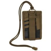 Hazard 4 Badger Patch Organiser hook and loop I.D. Card Holder Army Neck Badge Coyote