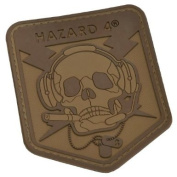 Hazard 4 Operator Skull Badge Combat Morale hook and loop Army Patch Airsoft Coyote Tan