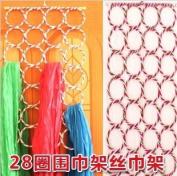 28-hole Ring Rope Slots Holder Hook Scarf Wraps Shawl Storage Hanger Organiser,rattan Weave Clothes Rack