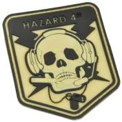Hazard 4 Tactical Operator Skull Badge Army Morale hook and loop Patch Glow in the Dark
