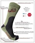 NEW! HUNTING eXPANSIVE SOCKS HUNTER GREEN Size 9-12