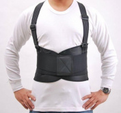 Light Lumbar Back Brace / Belt with Suspenders for Men, for Posture / Weight Support, Training / Bodybuilding / Weight Lifting or Work Safety