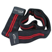 Best Body Nutrition Knee Bandages - Black/Red, Pair