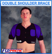 Floprene Double Shoulder Brace - Black