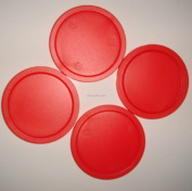 Air Hockey Arcade Quality - 4 x 50mm Red Pucks from Leisure Pursuits
