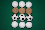 table football balls 12 Balls 4x3 piece in the assortment