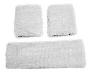 White Retro 80's Head & Wrist Sweatband Set £4.78 inc P & P, postage is not combined