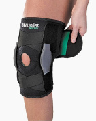 Mueller Green Line Adjustable Knee Bandage With Joint - One Size, Black