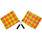 New Osg Chequered Football Officials Linesman Flags Assistant Referee Flag Pair