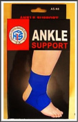2 x Blue Neoprene Adjustable Ankle Supports