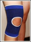 2 x Elasticated Blue Open Knee Supports