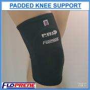 Proline Floprene Neoprene Padded Knee Support - Black