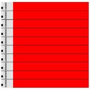 Tyvek Wristbands, Plain, Red, 100 Pack