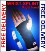 Black Adjustable Right Wrist Splint Support