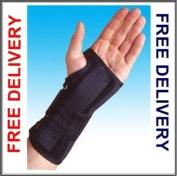 Black Adjustable M/L Left Wrist Splint Support