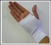 Elasticated White Hand Palm Support