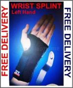 Black Adjustable Small Left Wrist Splint Support
