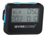 Gymboss Interval Timer and Stopwatch - BLACK / BLUE SOFTCOAT