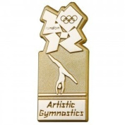 Artistic Gymnastics Gold Pictogram Pin Badge - London 2012 Olympic Games