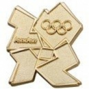 London 2012 Olympic Gold Logo Pin Badge