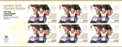 London 2012 Olympic Games, Gold Medal Winners Stamp Sheet - Cycling, Women's Team Pursuit