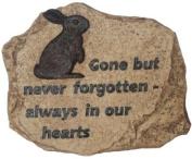Pet Rabbit never forgotten Remebrance Memorial Stone Remembrance Plaque Grave Marker Memoriam Ornament