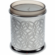 Pewter Triquetra Pattern Votive Candle Holder 8.9cm - with Candle
