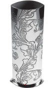 Medium 200mm Tall Pewter Vase with Acanthus Leaf Decoration