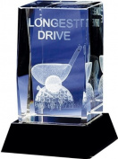 Longridge 'Longest Drive' Crystal Golf Trophy