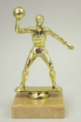 14cm GOLDTONE BASKETBALL/VOLLEYBALL TROPHY ON MARBLE BASE