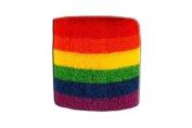 Rainbow Wristband / sweatband, 2 pcs
