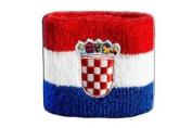 Croatia Wristband / sweatband, Set of 2 pieces!