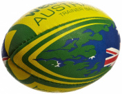 Webb Ellis Men's Australia Flag Ball - Green/Yellow, Mini