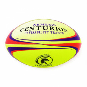 Centurion Nemesis Hi-Vis Rugby Ball - Yellow, Size 5
