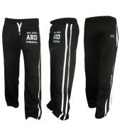 Fleece Joggers Track Suit Bottom Jogging Trousers Exercise Fitness Boxing MMA Gym Sweat Fleece Trousers Cotton Fleece BLACK