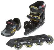 Powerslide Hot Wheels X-Blade Set - 31, Black/Yello