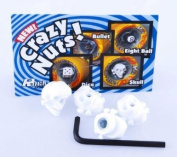 Suregrip Crazy Nuts Axle Nuts (Pack of 4) - Skull