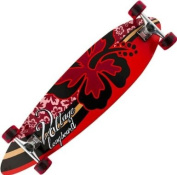 Voltage Hibiscus 100cm x 25cm Flat Pin Tail Red Longboard Ideal for Beginners!
