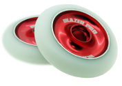 Blazer Pro Metal Core Scooter Wheels Pair 100mm Stunt, Park And Ramp Red