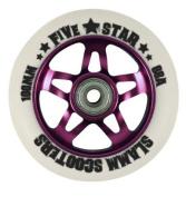 Slamm Five Star Alloy Core Scooter Wheel - Pink