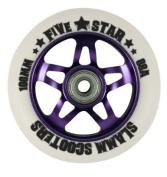 Slamm Five Star Alloy Core Scooter Wheel - Purple