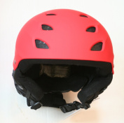 Red Boys/Girls Protective Ski Helmet (56-58 cm head circumference = large child / kid / junior) CE EN 1077 tested and certified for skiing and snowboarding