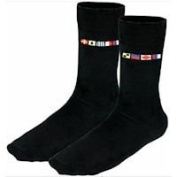 Socks with nautical code flag Right and Left