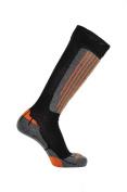 Horizon Carve Coolmax Ski Socks Black/Orange Medium UK 6.5-9
