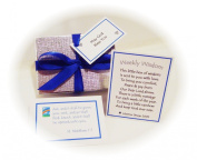 Weekly Wisdom (blue rainbow motif) - Handmade Personalised Christian Gift. 52 Reflective Bible Quotes - One For Each Week Of The Year Ahead! Inspirational Religious Gift For Mum / Dad / Brother / Sister / Grandma / Grandad / Auntie / Uncle ..