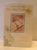 NIECE ON YOUR FIRST HOLY COMMUNION CARD. NIECE 1ST HOLY COMMUNION CARD. NIECE FIRST HOLY COMMUNION
