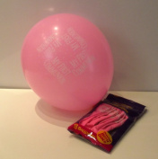 8 PINK HELIUM OR AIR FILL. FIRST HOLY COMMUNION BALLOONS