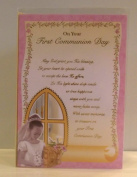 Girl's First Holy Communion Card. Girls First Holy Communion Card. Girl's 1st Holy Communion Card. Girls 1st Communion Card