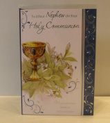 TO A DEAR NEPHEW ON YOUR HOLY COMMUNION CARD. NEPHEW 1ST HOLY COMMUNION CARD. NEPHEW FIRST HOLY COMMUNION
